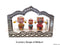wooden Car Decor Jaganntah Balabhadra and Subhadra Idol in a Frame