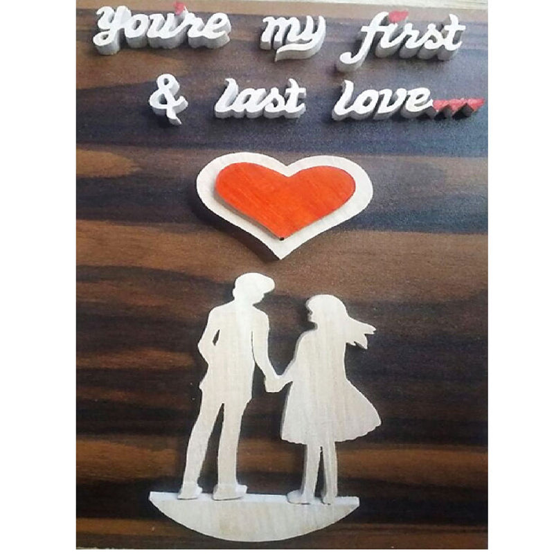 "Wood Cutting ""You're my first and last love"" Work Showpiece"