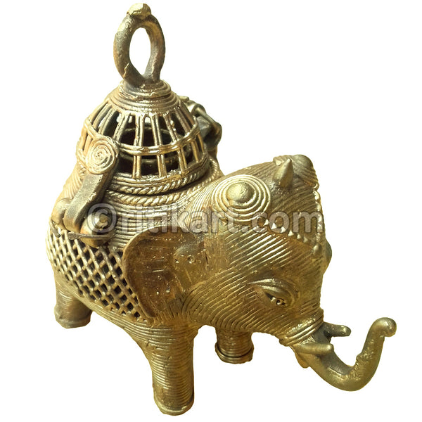 Dokra Brass Elephant speciality Showpiece