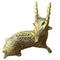 Sleeping Deer Dokra Brass Showpiece