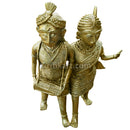 Dokra Tribal Couple Showpiece