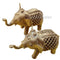 Dokra Brass two Elephant Showpiece