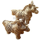 Dokra Brass two Showpiece Horse
