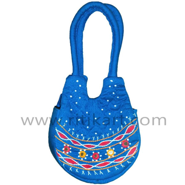 Pipili Hand Made fancy Blue Bag