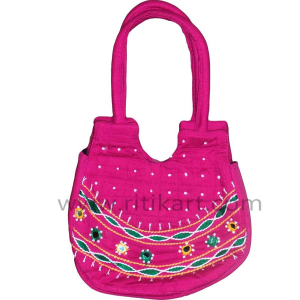 Pipili Hand Made fancy Ladies Pink Bag