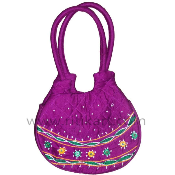 Pipili Hand Made fancy Ladies Red Bag-pc1