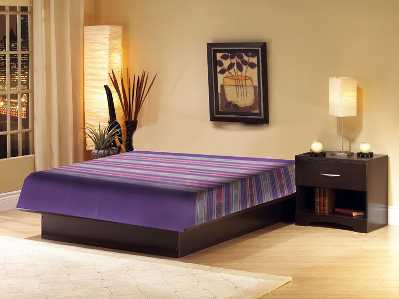 Sambalpuri Violet and Green Double Bed Cover