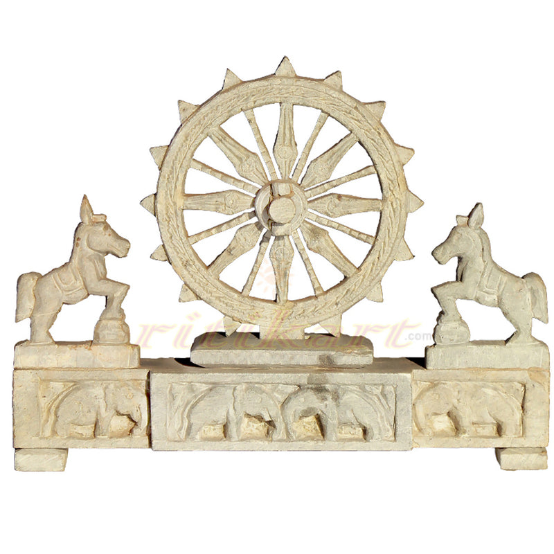 Pink Stone Work Konark Wheel