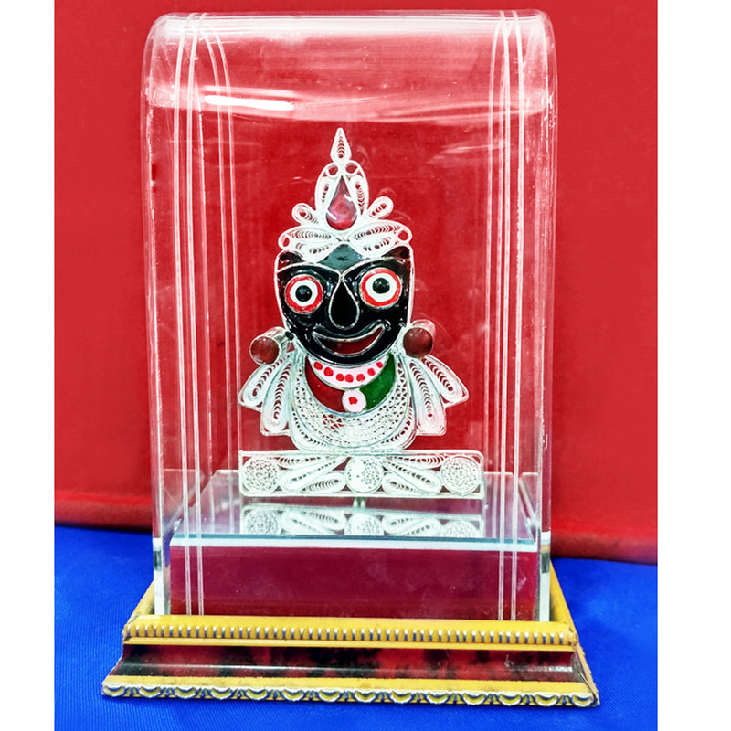 Lord Jagannath Silver Filigree Showpiece