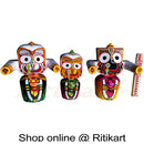 Jagannath Balabhadra Subhadra Wooden Idol 30 CMs High pic-1