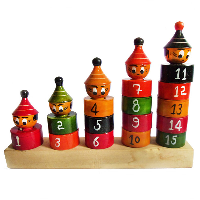 Chanapatna Wooden Number Counting Toys