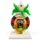 Marble Lord Jagannath With Kalasa Design