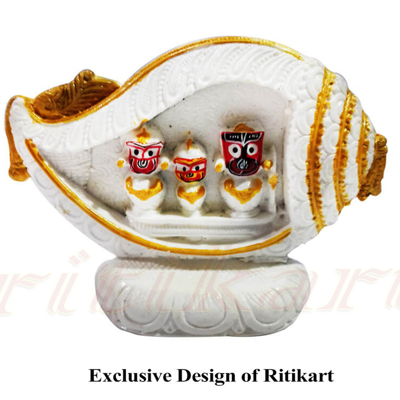 Marble Shell Design Lord Jagannath,Balabhadra And Devi Subhadra