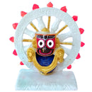 Marble Work Lord Jagannath With Konark Chakra