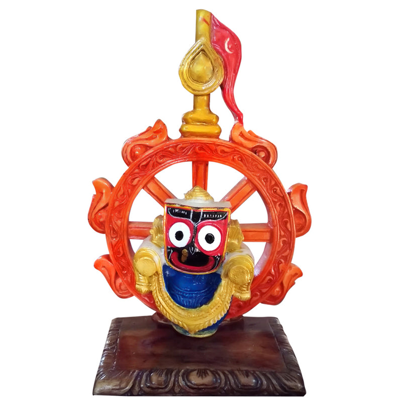 Lord Jagannath With Nila Chakra Marble Statue