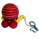 Wooden Rolling Tortoise With Rotating Ball