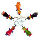 Chanapatana Wooden Doll design Key Ring Set Of 5 pic-1