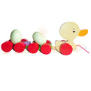 Wooden Duck With Pulling Eggs