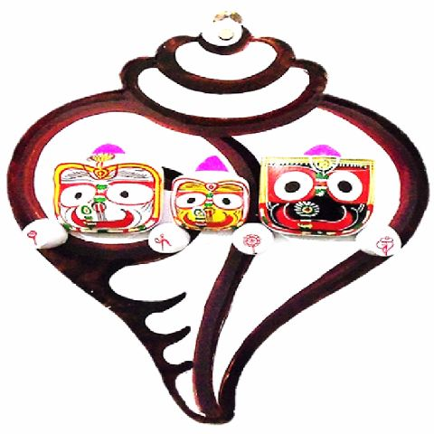 Wall Hanging Wooden Lord Jagannath Showpiece-pc1