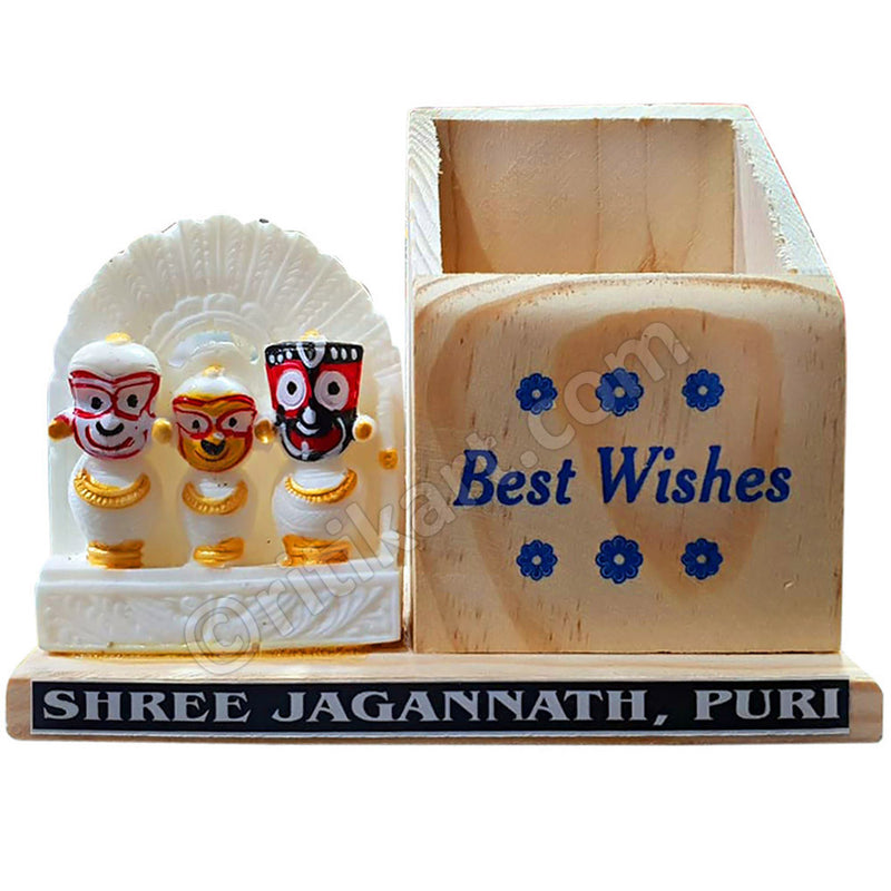Marble work Lord Jagannath Balabhadra And Subhadra Statue Pen Stand