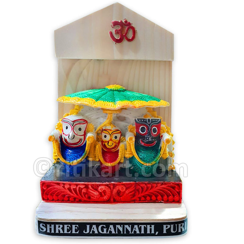 Marble Work-Lord Jagannath, Balabhadra And Subhadra Statue With Stand