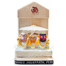 Marble work-Milky White Lord Jagannath, Balabhadra And Subhadra Statue With Stand