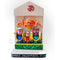 Marble Work- Multi Color Lord Jagannath Balabhadra And Subhadra Statue With Stand