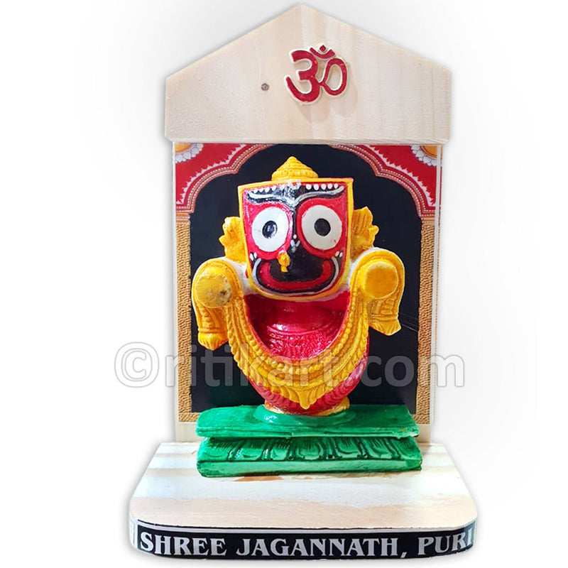 Marble Work-Multi Color Lord Jagannath Statue With Stand
