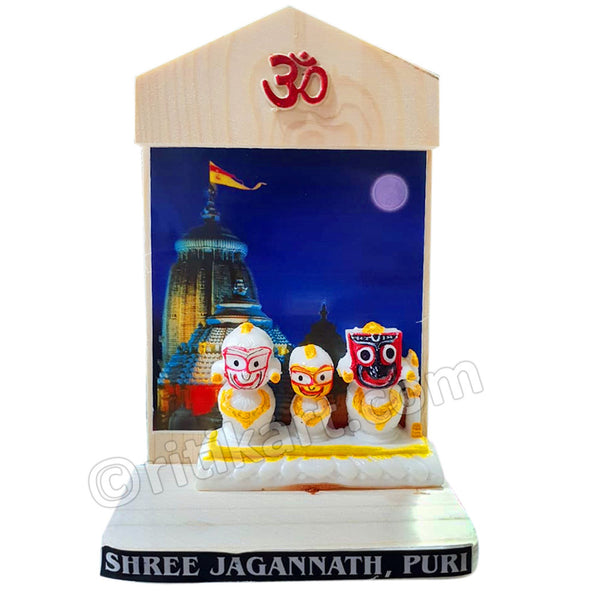 Marble Work-Lord Jagannath, Balabhadra And Subhadra Statue With Puri temple