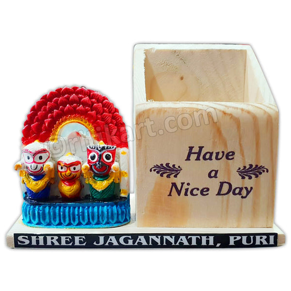 Lord Jagannath, Balabhadra And Subhadra design marble Statue and Pen Stand