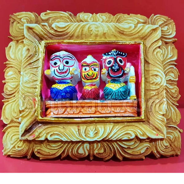 Marble Work Lord Jaganatha Balbhadra And Subhadra Showpiece