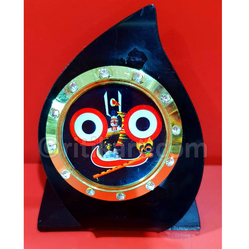 Wood Work Lord Jaganatha Idol Showpiece