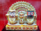Multi Color Lord Jagannath Balabhadra And Subhadra Marble Statue pic-2