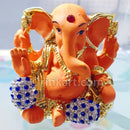 Gold-Plated Alloy Lord Ganesh Decorative Showpiece