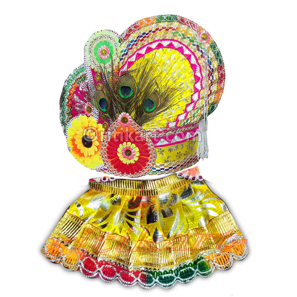 Lord Jagannath Patitapabana Puja Pagadi Dress 1 Feet pic-1