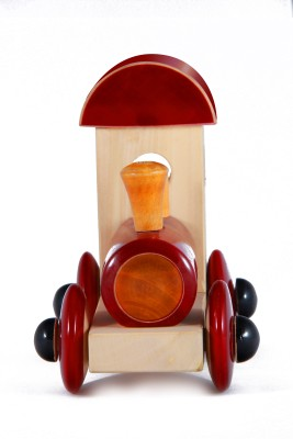 Channapatna Wooden Train Engine Toy (Red) pic-2
