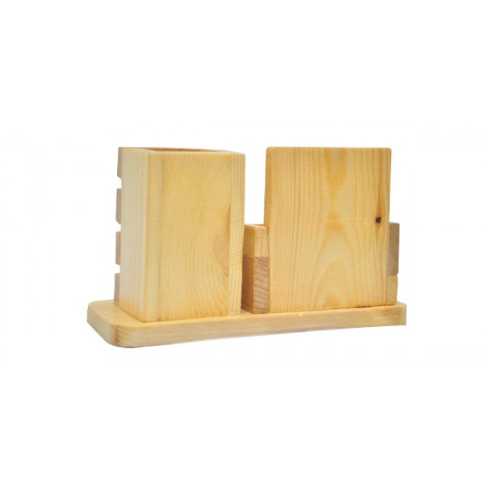 Wooden Pen And Mobile Stand