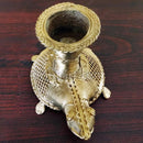 Dokra Brass Turtle with Candel Stand Showpiece