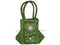 Pipili Hand Made fancy Ladies green Bag with Mobile holder-pc2
