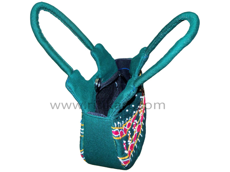 Pipili Hand Made fancy Ladies Green Bag-pc2
