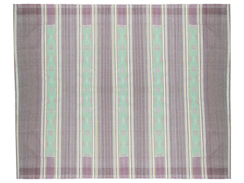 Sambalpuri Light Green and Grey Color Double Bed Sheet-pic3