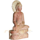 Sitting Budha Pink Stone Work Showpiece-pic2
