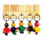 Buy Set of 5 Wooden Doll Key Ring