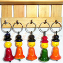 Wooden Key Ring Set Of 5