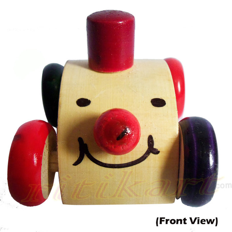 Wooden Pull And push Toy Car-pic2