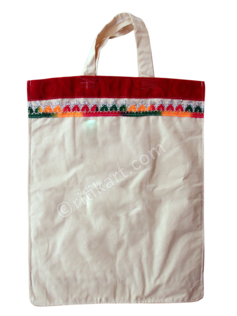 Applique Handmade Cotton Hand Bag-pc3