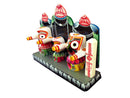 Lord Jagannath Balabhadra Subhadra Idol 4 Inch With Prabha pic-2