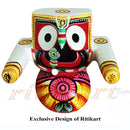 Jagannath Balabhadra Subhadra Wooden Idol of 20 CMs Height pic-2