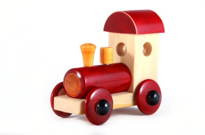 Channapatna Wooden Train Engine Toy (Red) pic-3