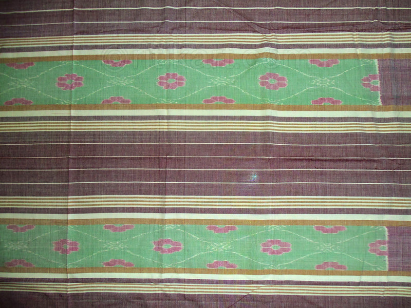 Sambalpuri Light Green and Grey Color Double Bed Sheet-pic4